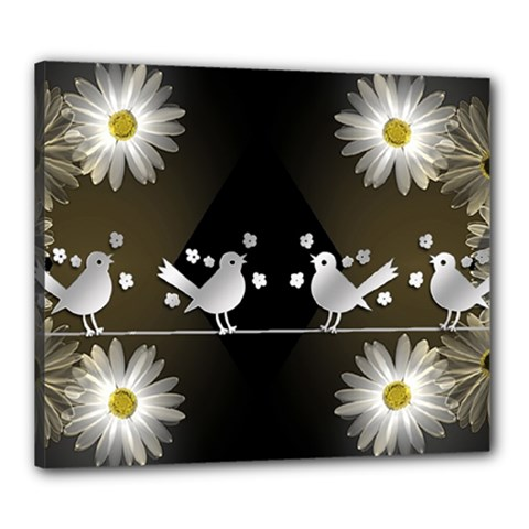 Daisy Bird Twitter News Gossip Canvas 24  x 20