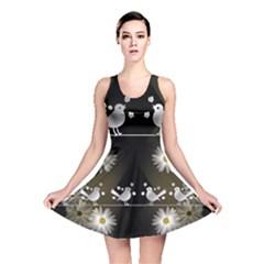 Daisy Bird Twitter News Gossip Reversible Skater Dress