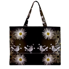 Daisy Bird Twitter News Gossip Zipper Mini Tote Bag