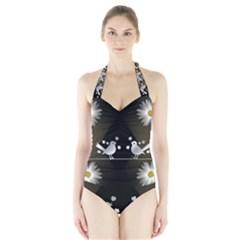 Daisy Bird Twitter News Gossip Halter Swimsuit