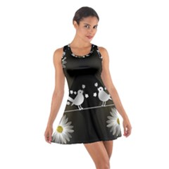 Daisy Bird Twitter News Gossip Cotton Racerback Dress