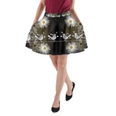 Daisy Bird Twitter News Gossip A-Line Pocket Skirt