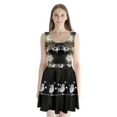 Daisy Bird Twitter News Gossip Split Back Mini Dress