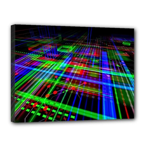 Electronics Board Computer Trace Canvas 16  x 12