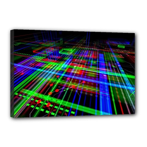 Electronics Board Computer Trace Canvas 18  x 12