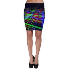 Electronics Board Computer Trace Bodycon Skirt
