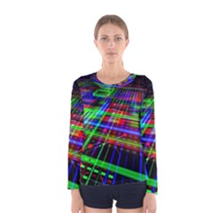 Electronics Board Computer Trace Women s Long Sleeve Tee