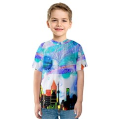 Dirty Dirt Spot Man Doll View Kids  Sport Mesh Tee