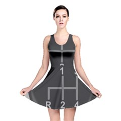 Gearshift Gear Stick Gear Engine Reversible Skater Dress