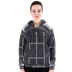 Gearshift Gear Stick Gear Engine Women s Zipper Hoodie