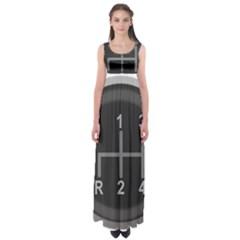 Gearshift Gear Stick Gear Engine Empire Waist Maxi Dress