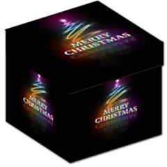 Merry Christmas Abstract Storage Stool 12