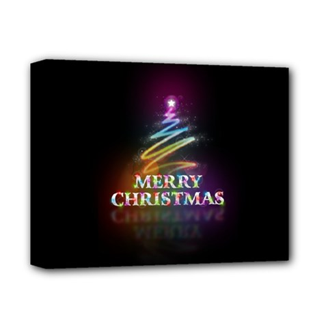 Merry Christmas Abstract Deluxe Canvas 14  x 11