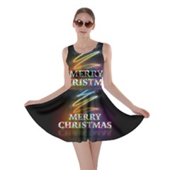 Merry Christmas Abstract Skater Dress