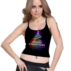 Merry Christmas Abstract Spaghetti Strap Bra Top