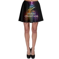 Merry Christmas Abstract Skater Skirt