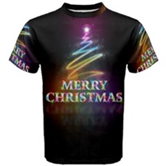 Merry Christmas Abstract Men s Cotton Tee