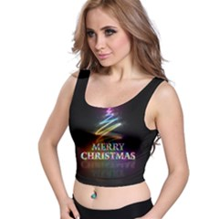 Merry Christmas Abstract Crop Top