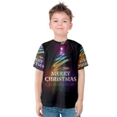 Merry Christmas Abstract Kids  Cotton Tee
