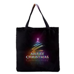 Merry Christmas Abstract Grocery Tote Bag