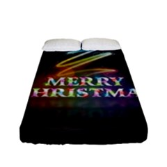 Merry Christmas Abstract Fitted Sheet (Full/ Double Size)