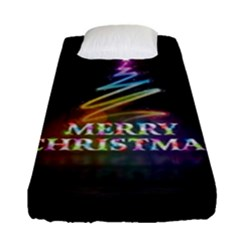 Merry Christmas Abstract Fitted Sheet (Single Size)
