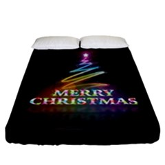 Merry Christmas Abstract Fitted Sheet (California King Size)