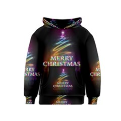 Merry Christmas Abstract Kids  Pullover Hoodie