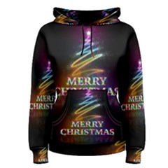 Merry Christmas Abstract Women s Pullover Hoodie