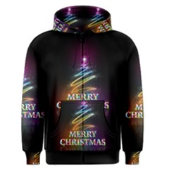 Merry Christmas Abstract Men s Zipper Hoodie