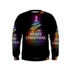 Merry Christmas Abstract Kids  Sweatshirt