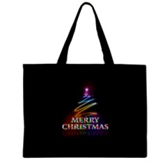 Merry Christmas Abstract Zipper Mini Tote Bag