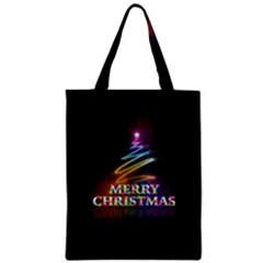 Merry Christmas Abstract Zipper Classic Tote Bag