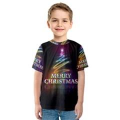 Merry Christmas Abstract Kids  Sport Mesh Tee