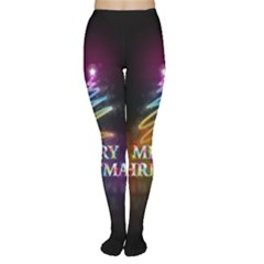 Merry Christmas Abstract Women s Tights