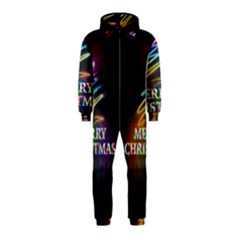 Merry Christmas Abstract Hooded Jumpsuit (Kids)