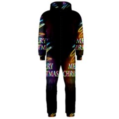 Merry Christmas Abstract Hooded Jumpsuit (Men)