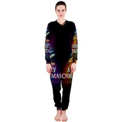 Merry Christmas Abstract OnePiece Jumpsuit (Ladies)