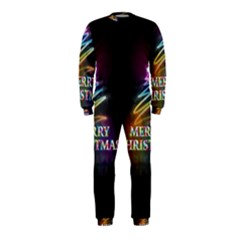 Merry Christmas Abstract OnePiece Jumpsuit (Kids)