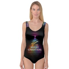 Merry Christmas Abstract Princess Tank Leotard
