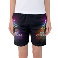 Merry Christmas Abstract Women s Basketball Shorts