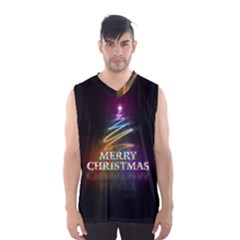 Merry Christmas Abstract Men s Basketball Tank Top