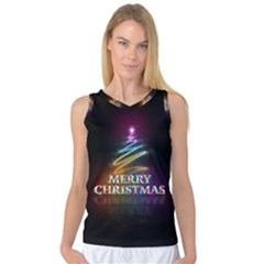 Merry Christmas Abstract Women s Basketball Tank Top
