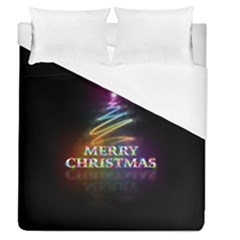 Merry Christmas Abstract Duvet Cover (Queen Size)