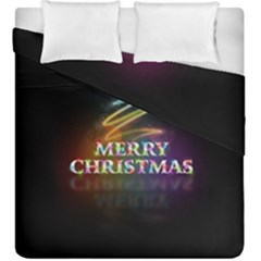 Merry Christmas Abstract Duvet Cover Double Side (King Size)