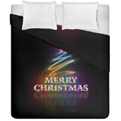 Merry Christmas Abstract Duvet Cover Double Side (California King Size)
