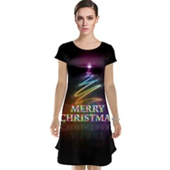 Merry Christmas Abstract Cap Sleeve Nightdress