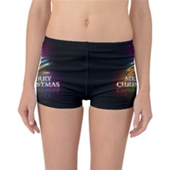 Merry Christmas Abstract Reversible Bikini Bottoms