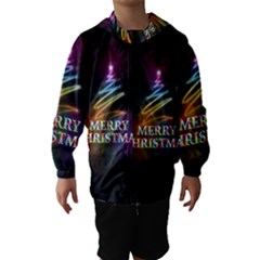 Merry Christmas Abstract Hooded Wind Breaker (Kids)