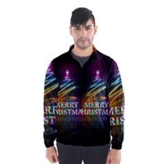 Merry Christmas Abstract Wind Breaker (Men)